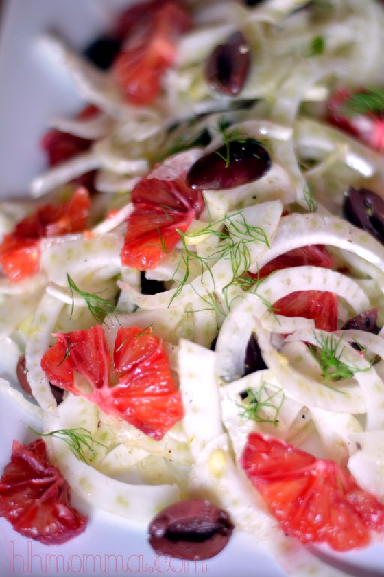 Sicilian Fennel Salad with Blood Oranges and Olives. Looking for a new dish to impress? This salad will never fail! Check out the recipe at hhmomma.com