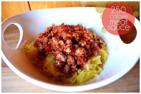 how to make low calorie pasta meat sauce